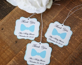Little Man baby shower favor tags, baby shower favors boy, Bow tie party favor tags, First birthday party favor tags, Boy baby shower tags