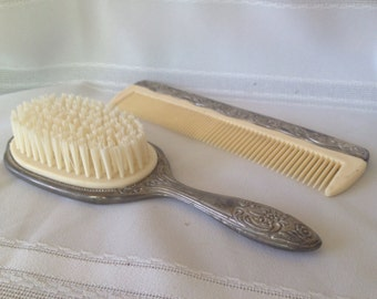 Antique Brush and Comb set/ Vintage Dresser Set