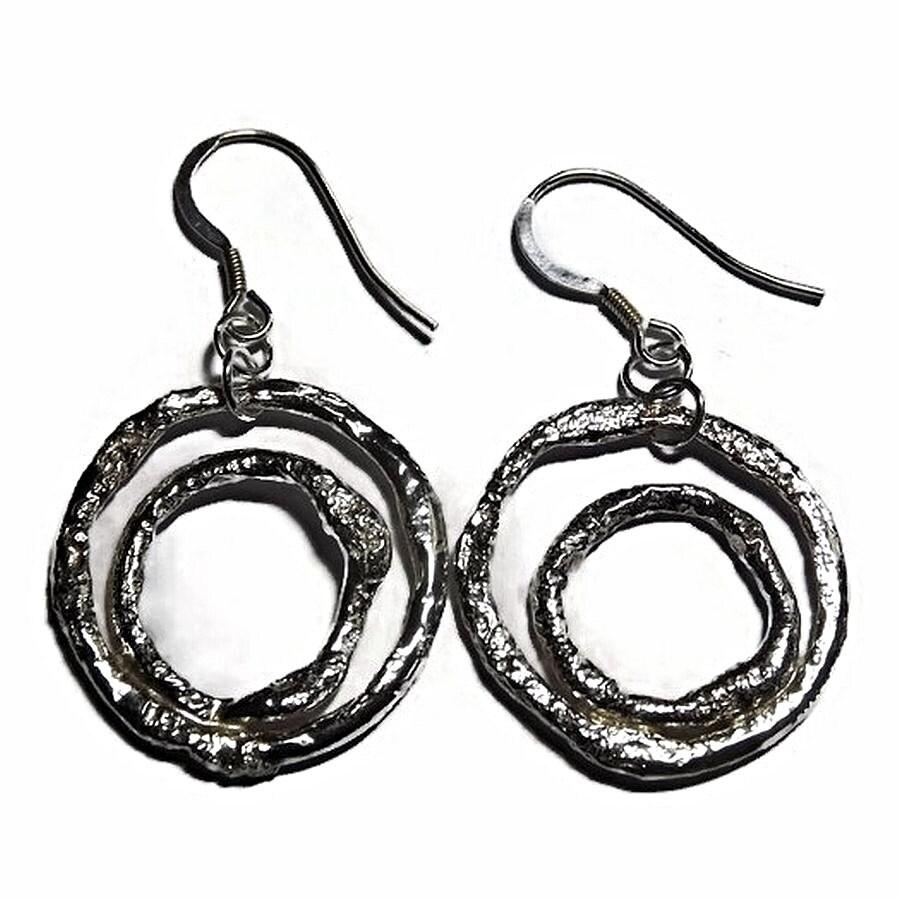 double hoop earrings sterling silver earring by. Black Bedroom Furniture Sets. Home Design Ideas