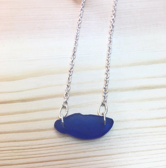 Cobalt Seaglass with Oval Rings