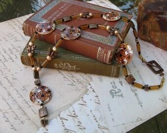 Autumn Floral Pendant Necklace