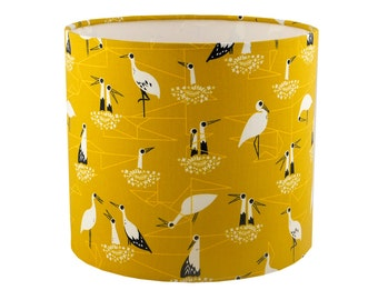 Stork mustard lampshade UK/EU/US pendant (ceiling) or table lamp fitting