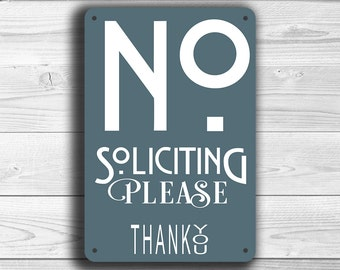 NO SOLICITATION SIGN, No Soliciting Signs, Modern style No Soliciting Sign, Please No Soliciting, No Solicitors, No Solicitation Signs