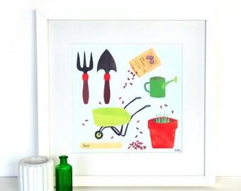 SALE! Gardening Print