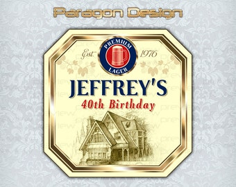Beer Bottle Labels - Customized For Any Occasion - Printable Digital File - B119