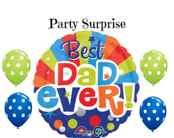 Fathers Day Balloons Best Dad Ever Dad Birthday Balloons