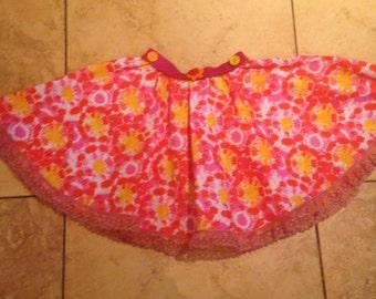 Toddler Skirt, Twirly Skirt, Pink Circle Skirt, Girls Circle Skirt, Toddler Girls Twirl Skirt, Girls Skirt, floral Cotton skirt,  3T Skirt,