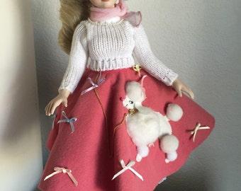 Poodle Skirt Doll