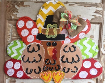 Turkey Thanksgiving Fall Door Decor Door Hanger