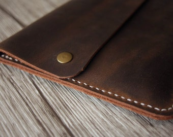 iPad Air Case Leather Portfolio Covers, Hand Sewn Distressed brown leather iPad Mini Covers - Premium Leather Stylish and cool