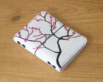 Cherry Blossom, Fauxdori cover, Travelers notebook, Vegan fauxdori, Midori cover, Bullet journal, Faux leather journal, Cherry Blossom cover