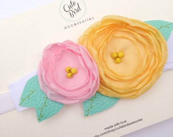 ROSY•HONEY Double Flower Headband