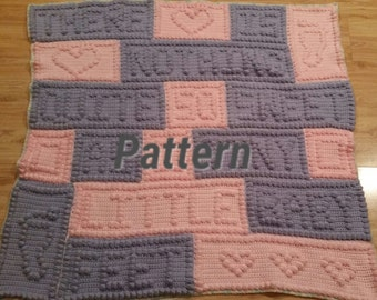 As-Is known errors Crochet Pattern Baby blanket, baby feet blanket pattern