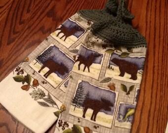 Crochet top towel #22