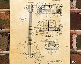 KillerBeeMoto: Duplicate of Original U.S. Patent Drawing Gibson Les Paul Guitar
