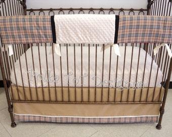3 Piece Bumperless Scottish Plaid Baby Bedding