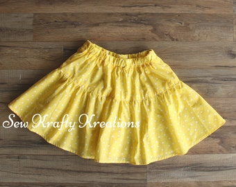 Yellow with Dots Skirt