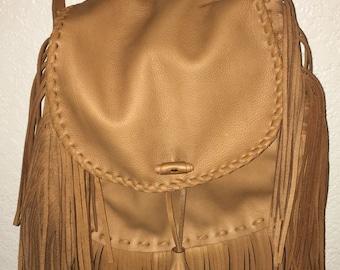 Large fringed purse