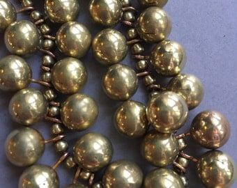 1940's Brass Drop Bead Necklace