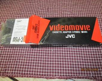 Vintage JVC Videomovie Cassette Adapter C-P6BKU with Instructions Mint in original box
