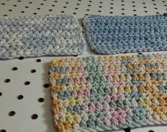 3 Dish Rags Crocheted