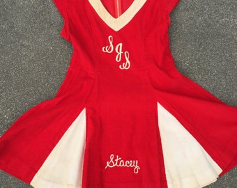 Vintage Amazing High School Cheerleader Dress