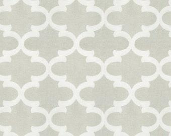 French Gray Quatrefoil Fabric - By The Yard - Girl / Boy / Gender Neutral