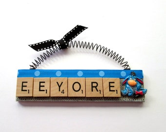 Eeyore  Scrabble Tile Ornament
