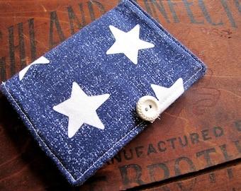 Stars Tea Wallet, Navy Blue Tea Wallet, Gifts Under Ten, Stocking Stuffer, Tea On The Go, Patriotic Tea Wallet, Gifts Tea Drinkers