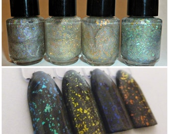 Opal Effect Polish ~ Indie Handmade Nail Polish 5-Free Custom Blended Dense Glitter Lacquer