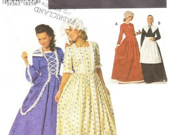Simplicity 9713 Misses' Colonial, Puritan Costume Pattern, 16-20