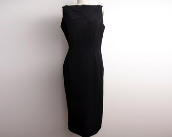 Vintage 1950s little black dress size S handmade