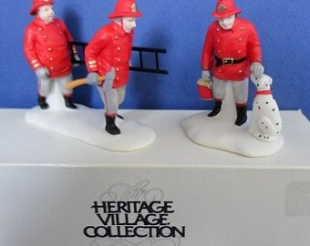 Dept 56 The Fire Brigade Retired Christmas in the City Accessories