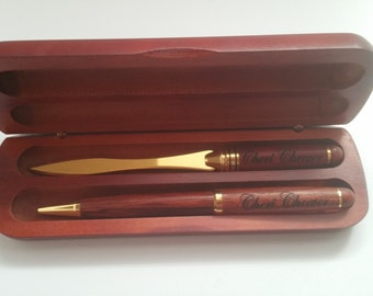 Pen Set Engraved - Pen Set Custom - Wood pen Set - Engraved Pen Set - Custom Pen Set - Pen Set Personalized - Personalized Pen Set - Pen Set