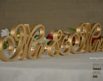 Metallic Mr and Mrs, Wall Decorations, Plum Sign Mr & Mrs,