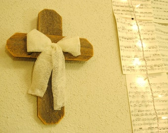 Rustic Cross with Lace