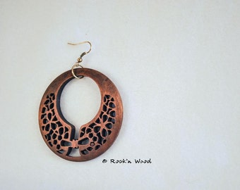 2 Pairs Wooden Earring Pendants