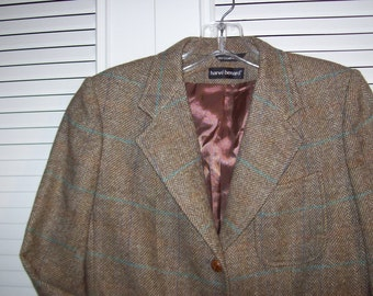 Blazer 4, THE  Harve Benard Herringbone Wool Very Very Sharp Blazer Jacket Size 4