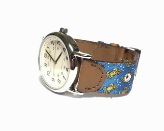 Silk & Leather Watch Strap (Numerous Styles) x Timex Weekender