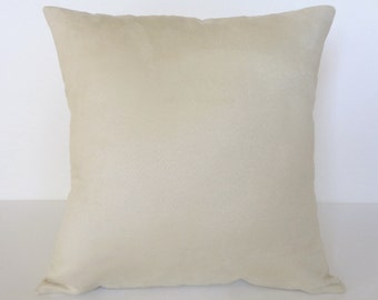 Pillow Cover Cream, Suede Pillow, Home Decor Pillow