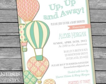 Hot Air Balloon Invitation | Etsy