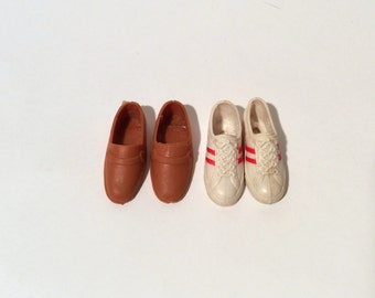Vintage 1970s Ken Doll Loafers and Sneakers