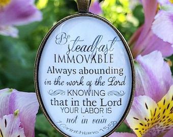 1 Corinthians 15:58 Pendant Necklace