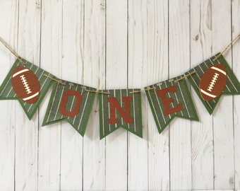 Highchair banner, Football Banner, Football Birthday, Birthday Photo Prop, Football party, Sports party, Super Bowl Party