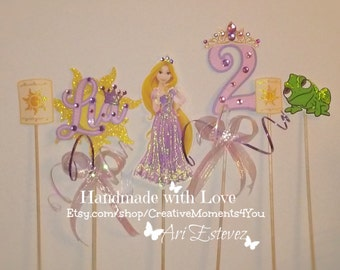 Rapunzel/ Tangled Centerpiece Birthday Picks