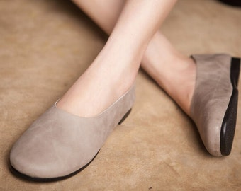 2016 NEW SHOES! Handmade Soft Shoes,Oxford Women Shoes, Flat Shoes, Retro Leather Shoes, Slip-ons