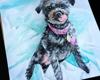 Pet Portrait Watercolor Painting, Custom painting