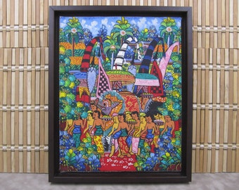 Oil Painting of Asian Festival