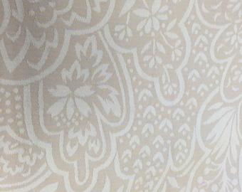Vintage french jacquard napkins beautiful design, classic color scheme set of 6