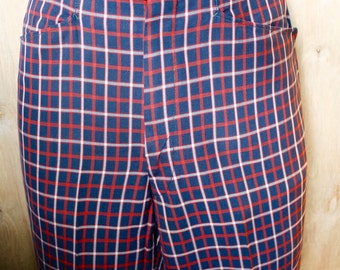 Men's Vintage Ivy League Checked Flat Front Dress Slacks/ Esquire Sportswear